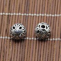 Thailand 3 Löcher Guru Perlen, rund, hohl, 11.5mm, Bohrung:ca. 1.5mm, 20PCs/Menge, verkauft von Menge