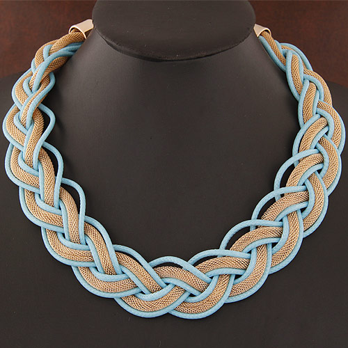 Buy Zinc Alloy Jewelry Necklace PU Leather gold color plated lead & nickel free 400x26mm Sold Per Approx 15.75 Inch Strand
