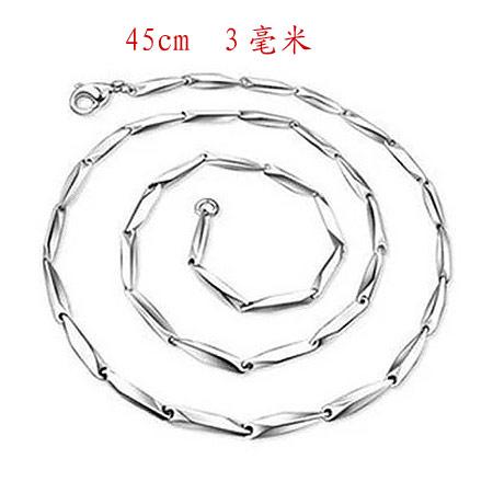 Männer Halskette, Titanstahl, Bar-Kette, 450x3mm, verkauft per ca. 17.72 ZollInch Strang