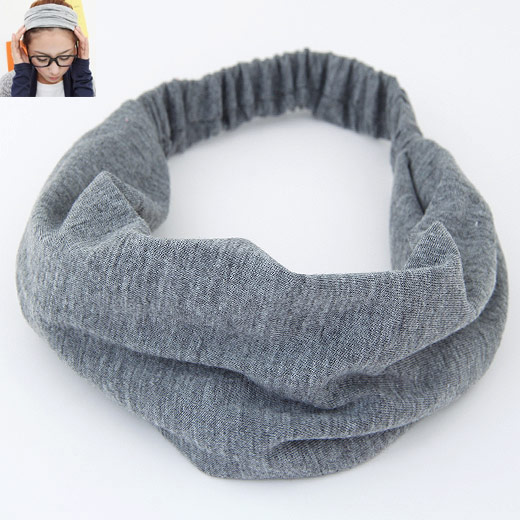 Stirnband, Baumwolle, grau, 240x175mm, verkauft von PC