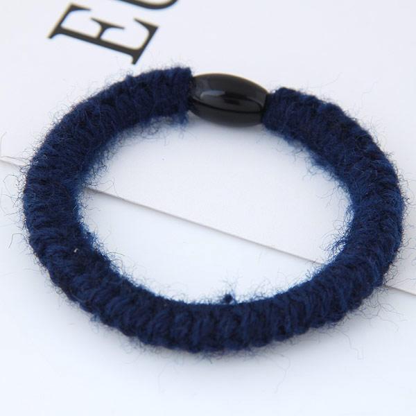 Elastisches Haarband, Wolle, mit Nylonschnur & Harz, blau, 38mm, verkauft von PC