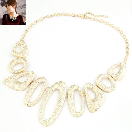 Mode Statement Halskette, Zinklegierung, mit Verlängerungskettchen von 5cm, goldfarben plattiert, frei von Blei & Kadmium, 400x200x68mm, verkauft per ca. 15.75 ZollInch Strang