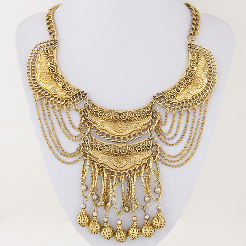 Buy Zinc Alloy Jewelry Necklace iron chain 5cm extender chain antique gold color plated twist oval chain lead & cadmium free 400mm Sold Per Approx 15.75 Inch Strand