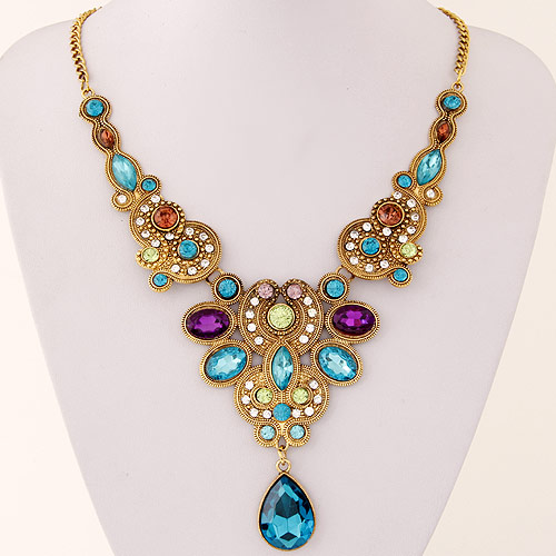 Buy Zinc Alloy Jewelry Necklace 5cm extender chain antique gold color plated twist oval chain & faceted & rhinestone lead & cadmium free 400mm Sold Per Approx 15.75 Inch Strand