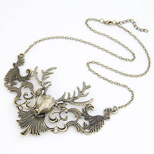 Buy Fashion Statement Necklace Zinc Alloy 5cm extender chain Deer antique bronze color plated lead & cadmium free 450x118x80mm Sold Per Approx 17.72 Inch Strand
