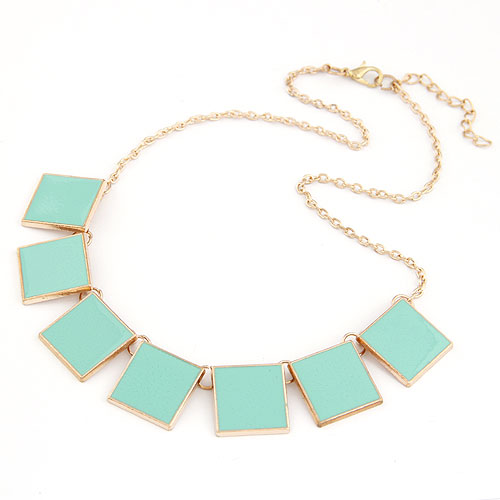 Buy Fashion Statement Necklace Zinc Alloy Resin 5cm extender chain gold color plated enamel lead & cadmium free 400x140x18mm Sold Per Approx 15.75 Inch Strand