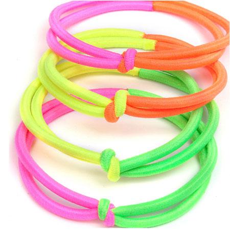 Elastisches Haarband, Nylonschnur, gemischte Farben, 40-60mm, verkauft von PC