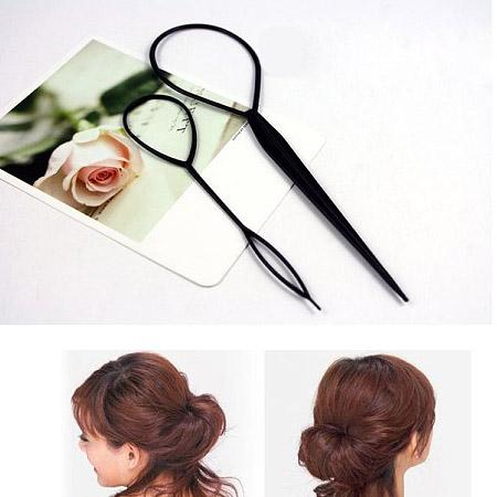 Kunststoff Haar Bun Maker kit, schwarz, 195mm, 140mm, verkauft von setzen