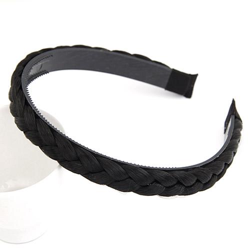 Haarreif, Kunststoff, schwarz, 140x130x13mm, verkauft von PC