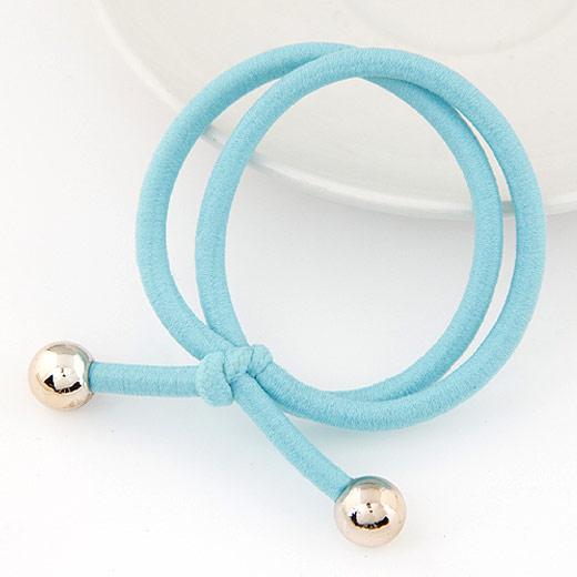 Elastisches Haarband, Nylonschnur, hellblau, 30-40, verkauft von PC