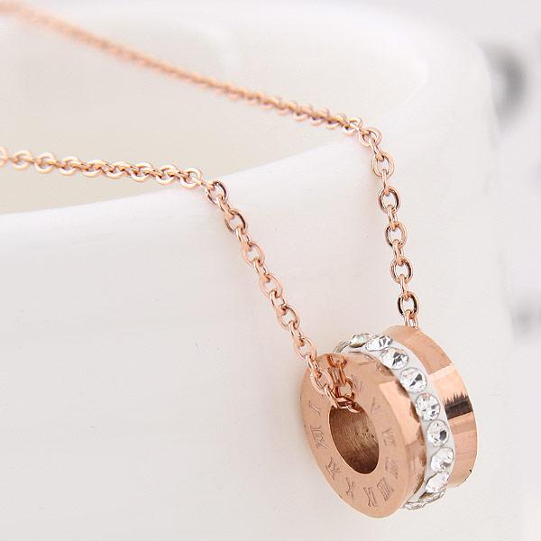 Messing Halskette, mit Ton, echtes Rósegold plattiert, Oval-Kette, frei von Blei & Kadmium, 450x13x6mm, verkauft per 17.72 ZollInch Strang