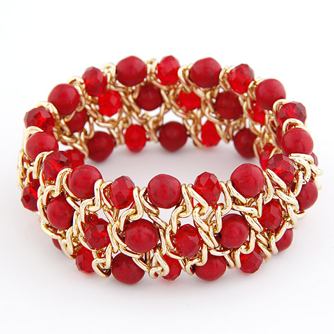 Buy Zinc Alloy Bangle Turquoise & Acrylic gold color plated lead & cadmium free 180x27mm Inner Diameter:Approx 55mm Length:Approx 7.09 Inch Sold PC