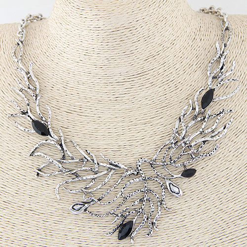 Buy Zinc Alloy Jewelry Necklace Resin 5cm extender chain antique silver color plated oval chain & faceted lead & cadmium free 450x120x50mm Sold Per Approx 17.72 Inch Strand