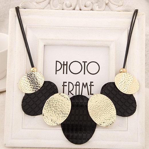 Mode Statement Halskette, Zinklegierung, goldfarben plattiert, mit Bemaltung, frei von Blei & Kadmium, 400mm, verkauft per ca. 15.75 ZollInch Strang