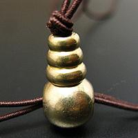 Messing 3-Loch-Guru-Perlen-Set, buddhistischer Schmuck, originale Farbe, frei von Nickel, Blei & Kadmium, 10mm, Bohrung:ca. 3mm,1.5mm, 125PCs/Menge, verkauft von Menge