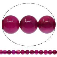 Natürliche Rosa Achat Perlen, rund, verschiedene Größen vorhanden, Bohrung:ca. 1mm, Länge:ca. 15 ZollInch, verkauft von Menge