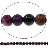 Natürliche Crackle Achat Perlen, Geknister Achat, rund, farbenfroh, 6mm, Bohrung:ca. 1mm, Länge:ca. 15 ZollInch, 10SträngeStrang/Menge, ca. 63PCs/Strang, verkauft von Menge
