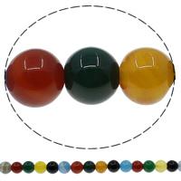 Natürliche Regenbogen Achat Perlen, rund, 12mm, Bohrung:ca. 1mm, Länge:ca. 15 ZollInch, 10SträngeStrang/Menge, ca. 32PCs/Strang, verkauft von Menge