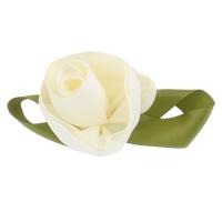 Mode Dekoration Blumen, Satinband, geschichtet & zweifarbig, 100x40mm, 10PCs/Tasche, verkauft von Tasche