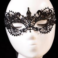 Gothic Augenmaske, Spitze, mit Satinband, Gotik, schwarz, 200x100mm, Länge:ca. 23.6 ZollInch, 20PCs/Menge, verkauft von Menge