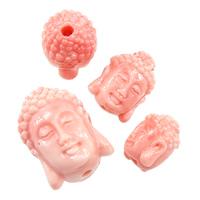 Riesenmuscheln Perlen, Riesenmuschel, Buddha, geschnitzt, buddhistischer Schmuck & verschiedene Größen vorhanden, Rosa, verkauft von Menge