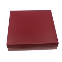 Karton Halskettenkasten, mit Baumwollsamt, Quadrat, rot, 190x43mm, 5PCs/Tasche, verkauft von Tasche