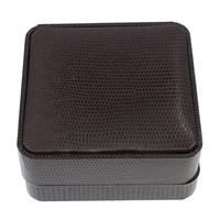 Leder Armbandkasten, PU Leder, mit Karton & Baumwollsamt, Quadrat, dunkle Kaffee-Farbe, 90x42mm, 10PCs/Tasche, verkauft von Tasche