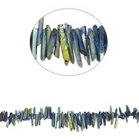 Natürliche Beschichtung Quarz Perlen, Natürlicher Quarz, bunte Farbe plattiert, 12x4x4mm, 40x4x7mm, Bohrung:ca. 1mm, 88PCs/Strang, verkauft per ca. 16.1 ZollInch Strang