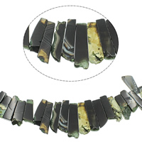 Achat Perlen, 22x13x7mm-55x22x7mm, Bohrung:ca. 1mm, ca. 33PCs/Strang, verkauft per ca. 15.7 ZollInch Strang