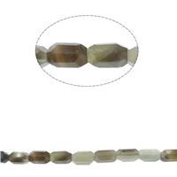 Grauer Achat Perle, facettierte, 10x29mm, Bohrung:ca. 1mm, ca. 54PCs/Strang, verkauft per ca. 16.1 ZollInch Strang