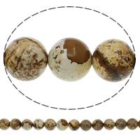 Baum Achat Perlen, Baumachat, rund, natürlich, verschiedene Größen vorhanden, Bohrung:ca. 1mm, Länge:ca. 15.7 ZollInch, verkauft von Tasche