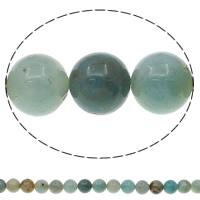 Natürliche Regenbogen Achat Perlen, Amazonit, rund, verschiedene Größen vorhanden, Bohrung:ca. 1mm, Länge:ca. 15.7 ZollInch, verkauft von Tasche