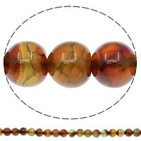 Natürliche Drachen Venen Achat Perlen, Drachenvenen Achat, rund, verschiedene Größen vorhanden, Bohrung:ca. 1mm, Länge:ca. 15.7 ZollInch, verkauft von Tasche