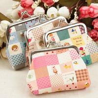 Geldbörse, Baumwolle, mit Eisen, Platinfarbe platiniert, gemischt, 90x80mm, 40PCs/Tasche, verkauft von Tasche