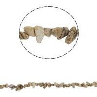 Bild Jaspis Perlen, Klumpen, 5-8mm, Bohrung:ca. 0.8mm, ca. 260PCs/Strang, verkauft per ca. 34.6 ZollInch Strang