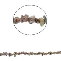 Leopardhaut Stein, Bruchstück, 5-8mm, Bohrung:ca. 0.8mm, ca. 260PCs/Strang, verkauft per ca. 34.6 ZollInch Strang
