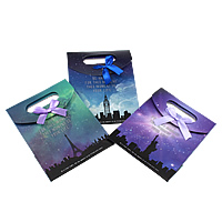 Mode Geschenkbeutel, Papier, mit Satinband, gemischt, 124-125x164-165x60mm, 120PCs/Tasche, verkauft von Tasche