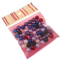 ABS-Kunststoff-Perlen Perle, mit OPP, rund, gemischte Farben, 12mm, Bohrung:ca. 1.5mm, 50PCs/Tasche, verkauft von Tasche