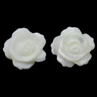 Natürliche weiße Muschelperlen, Blume, halbgebohrt, 13x13x3mm, Bohrung:ca. 1mm, 10PCs/Tasche, verkauft von Tasche