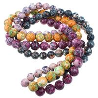 Regen Blumen Stein Perlen, rund, natürlich, verschiedene Größen vorhanden, keine, Länge:ca. 15.5 ZollInch, verkauft von Menge