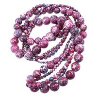 Regen Blumen Stein Perlen, rund, natürlich, verschiedene Größen vorhanden, Länge:ca. 15.5 ZollInch, verkauft von Menge
