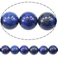 Synthetischer Lapislazuli Perlen, rund, 12mm, Bohrung:ca. 1.2mm, Länge:ca. 15.5 ZollInch, 5SträngeStrang/Menge, ca. 32PCs/Strang, verkauft von Menge
