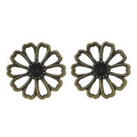 Zinklegierung Cabochon Einstellung, Blume, antike Bronzefarbe plattiert, frei von Nickel, Blei & Kadmium, 17x17x2mm, Innendurchmesser:ca. 3mm, 500PCs/Menge, verkauft von Menge
