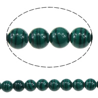 Malachit Perle, rund, verschiedene Größen vorhanden, grün, Bohrung:ca. 1mm, Länge:ca. 16 ZollInch, verkauft von Menge