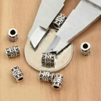 Bali Sterling Silber Perlen, Thailand, Zylinder, 5x6.90mm, Bohrung:ca. 2.5mm, 50PCs/Menge, verkauft von Menge