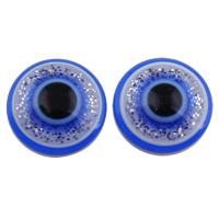 Evil Eye Cabochon, Harz, mit Kunststoff Pailletten, flache Runde, verschiedene Größen vorhanden & flache Rückseite, blau, 2Taschen/Menge, 1000PCs/Tasche, verkauft von Menge