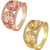 comeon® Finger-Ring, Messing, plattiert, verschiedene Größen vorhanden & Micro pave Zirkonia, keine, frei von Nickel, Blei & Kadmium, 12mm, verkauft von PC