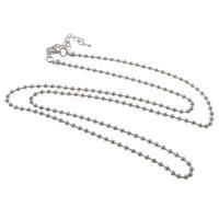 Eiserne Halskette Kette, Eisen, mit Verlängerungskettchen von 7cm, plattiert, Kugelkette, keine, frei von Nickel, Blei & Kadmium, 3.2mm, verkauft per ca. 30 ZollInch Strang