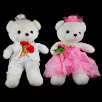 Plüsch Teddy Bär Spielzeug, mit Satinband & Organza, für paar, 350x600x220mm, 350x600x220mm, 2PCs/setzen, verkauft von setzen