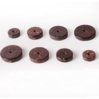 Kokos-Perlen, Kokosrinde, flache Runde, natürlich, verschiedene Größen vorhanden, frei von Nickel, Blei & Kadmium, 400PCs/Menge, verkauft von Menge